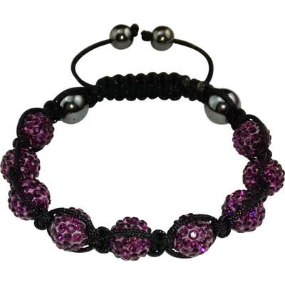 "Magnetarmband ""Shamballa"" Black / Purple"