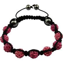 "Magnetarmband ""Shamballa"" Black / Pink"